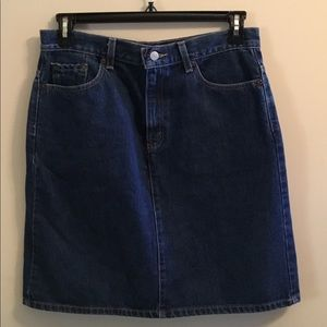 Vintage Levi Jean Mini skirt EUC